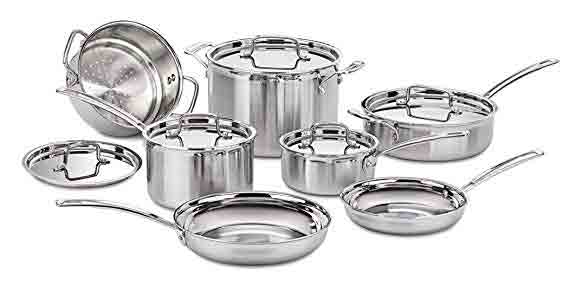 Cuisinart MCP-12N Multiclad Stainless Steel 12-Piece Cookware Set