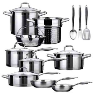 Duxtop SSIB 17 Professional 17 piece Stainless Steel Induction Cookware Set