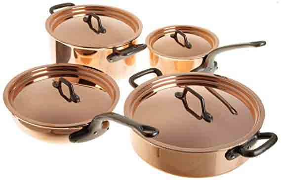 Matfer 915901 Bourgeat Copper Cookware Set