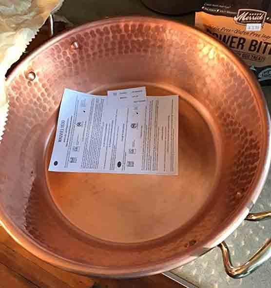 Mauviel M'Passion 11-Quart Copper Jam Pan