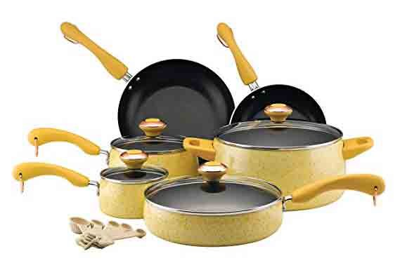 Paula Deen Signature Collection Porcelain Nonstick Cookware, 15-Piece Set