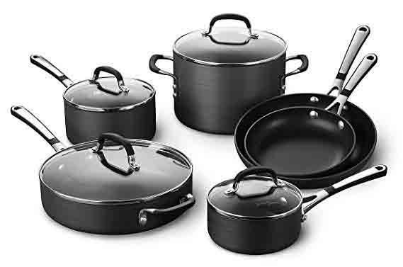 Simply Calphalon Nonstick Cookware, 10-Piece Set