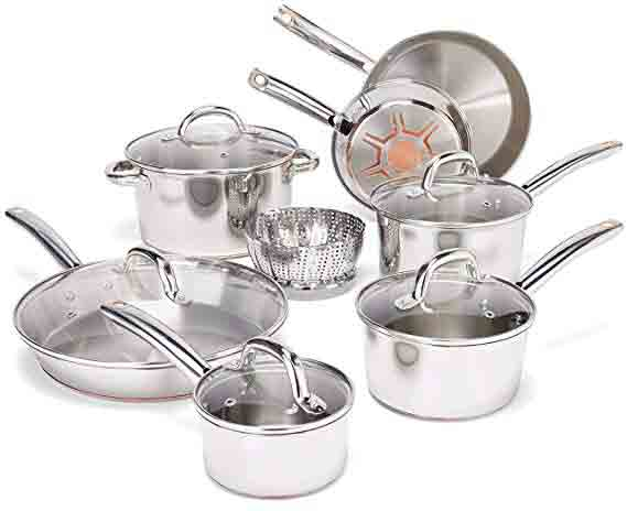 T-Fal Ultimate Copper Bottom Cookware Set 13-Piece