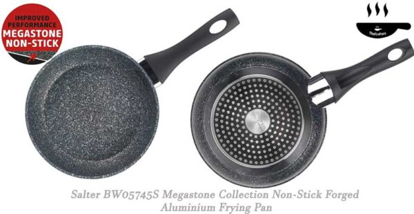 Salter BW05745S Megastone Collection Non Stick Forged Aluminium Frying Pan