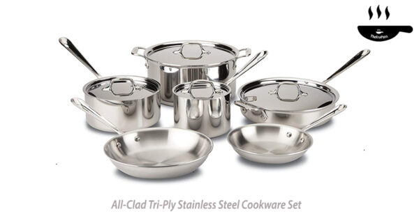 All Clad Tri Ply Stainless Steel Cookware Set