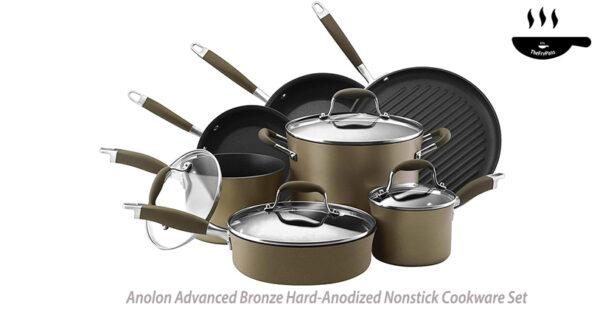Anolon Advanced Bronze Hard Anodized Nonstick 11 Piece Cookware Set 1