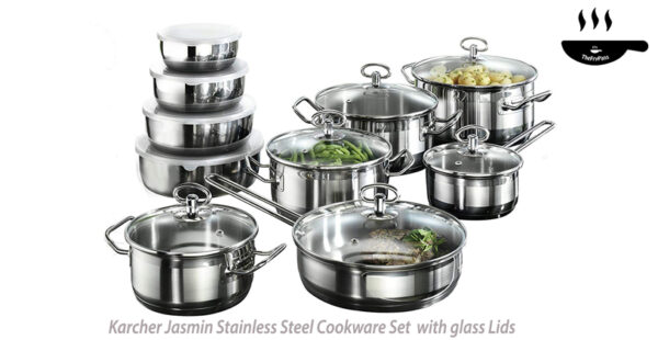 Karcher Jasmin Cookware Set with Pan Stainless Steel
