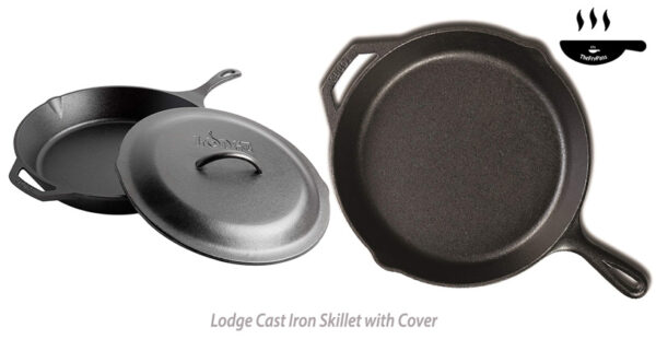 Lodge Cast Iron Skillet with Cover