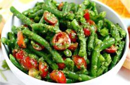 Cherry Tomato, Snow Pea & Yellow Bean Salad