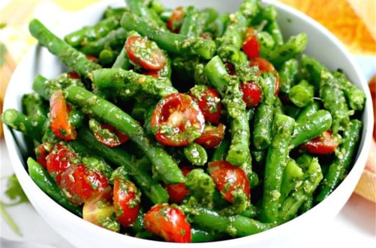 Cherry Tomato, Snow Pea & Yellow Bean Salad