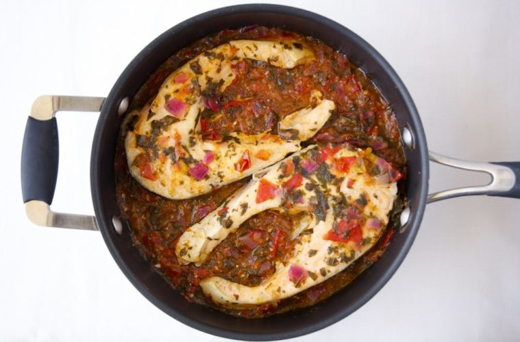 Sexy Salmon Cutlets simmered