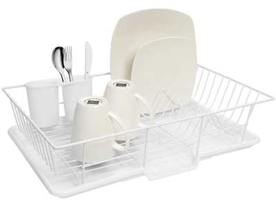 Dish Drainer Rack Set with Drying Board