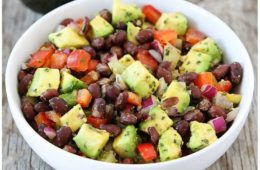 Black Bean with Avocado Salad