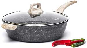 Carote 6.5 Quart Granite Stone Nonstick Saute Pan