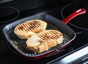 Cooking on the griddle pan 1