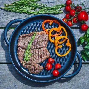jean Patrique The Whatever Pan Cast Aluminium Griddle Pan with Glass Lid