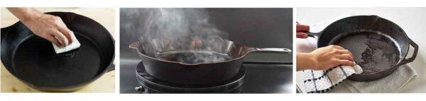 seasoning frying pan